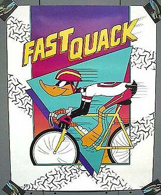 WB Cartoon Poster 1992 FAST QUACK Daffy Duck
