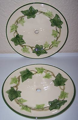 FRANCISCAN POTTERY IVY U.S.A. PAIR BREAD PLATES!