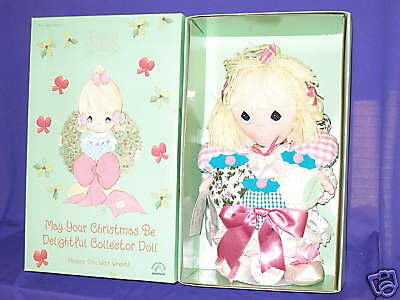 "Precious Moments Musical Xmas Doll by Applause 15"" 1999"