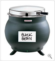 SOUP WARMER SERVER KS 84300 BLACK KETTLE SHAPED 11-qt