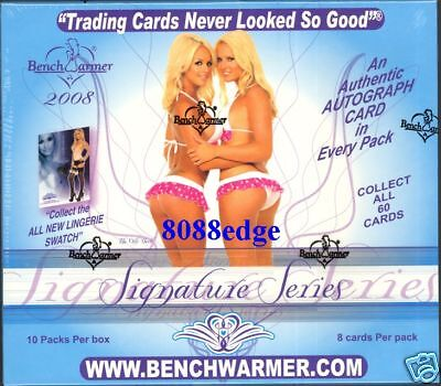 2008 Benchwarmer Signature Series Factory Sealed Hobby Box! Auto Per Pack !