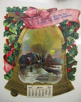 1910  Christmas calender / sign  / antique  Louisville Kentucky  clothing store