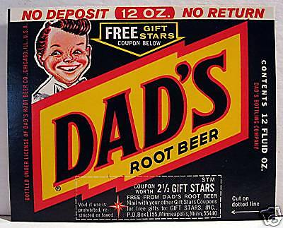 Vintage Dads Root Beer Soda Label Chicago Illinois