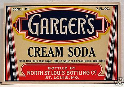 Vintage Gargers Cream Soda Label North St Louis Mo