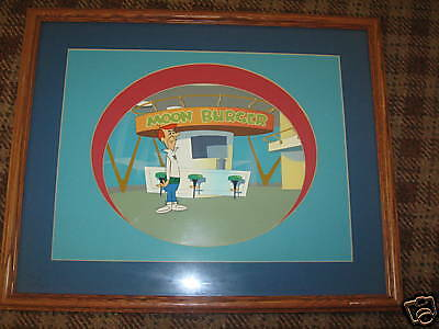 Framed original Jetsons cartoon cell - George Jetson