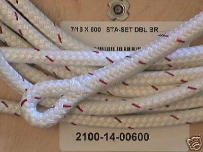 "7/16"" x 110 ft Staset  Rope Halyard - White Sta-set"