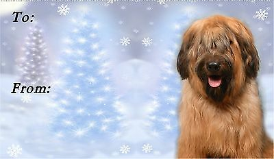 Briard Christmas Labels by Starprint - No 1