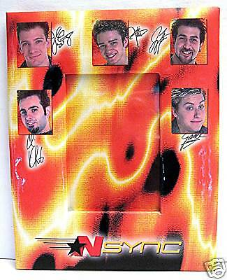 2001 N Sync Justin Chris Joey Lance JC Old Photo Frame