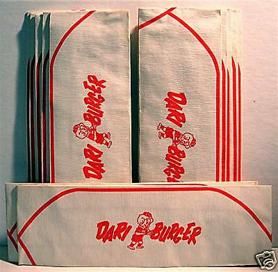 12 Dari Burger 1963 Soda Jerk Drive In Hat Old Stock