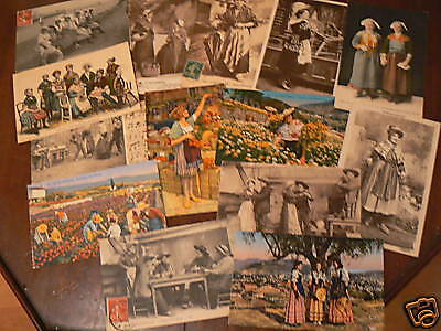 lot 14 cpa costumes regions france metier 10