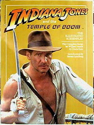 Indiana Jones Temple Doom Illustrated Screenplay Book- Out of Print-NM- FREE S&H