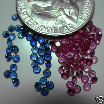 .10CT LAB RUBY ROUND 2mm  FREE SHIP LOT of 4