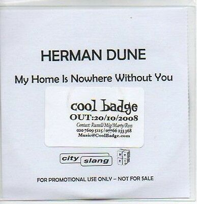 (M597) Herman Dune, My Home is Nowhere Without Y- DJ CD