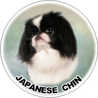 2 Japanese Chin Car Stickers By Starprint