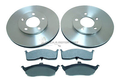 Chrysler Grand Voyager 1995-2000 Front 2 Brake Discs And Pads Set New