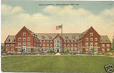 Riley Hospital Indianapolis IN Marion Postcard