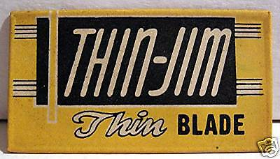 Thin Jim Old Worlds Products Co Razor Blade Spencer Ind