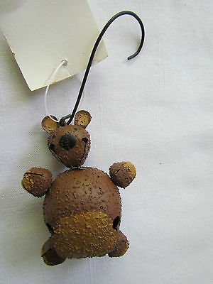 Teddy Bear Novelty Jingle Bell Ornaments Bells bears set 6 SALE Christmas