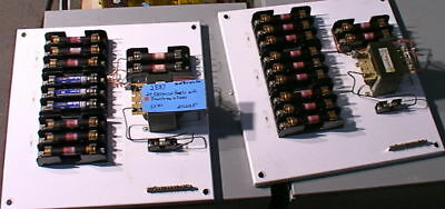 hoffman electrical enclosure panel12 fuses&transformer