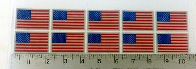 Reflective USA Flag sticker decal for Helmet. Qty of 10