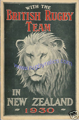 1930 British Lions Rugby Tour Book - Gt Alley