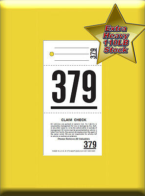 VT3 - 3 Part Valet Parking Tickets, 1,000 Per Box  LEAST EXPENSIVE 3 PART TICKET
