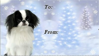 Japanese Chin Christmas Labels by Starprint