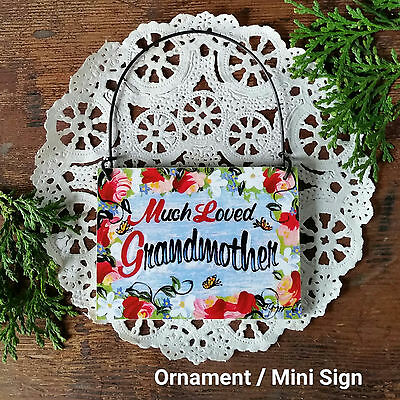 DECO Mini Sign Much Loved Grandmother Wood Ornament All Relatives in Ebay Store