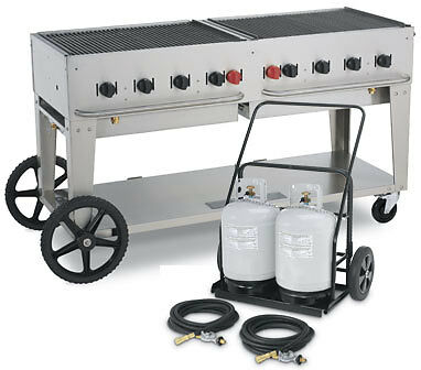 BBQ GRILL MCC-60 CART Crown Verity w/ cart & cylinders