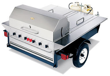 BBQ Grill TG-1 Crown Verity Tailgate Barbecue BBQ Concession Trailer