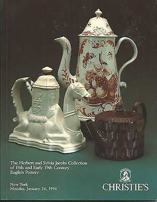 CHRISTIE'S STAFFORDSHIRE WEDGWOOD GREATBATCH Jacobs Collection Catalog 1994