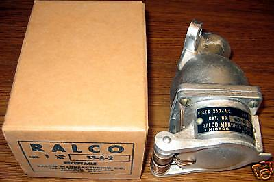 Ralco 53-A-2 30Amp 250VAC Receptacle New
