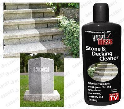 Stone Decking Patio Cleaner 2 Pack Gravestone Drive Paving Step Garden Furniture