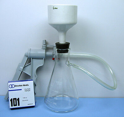 500 mL FILTRATION FLASK  BUCHNER FUNNEL VACUUM PUMP / Filtration Set