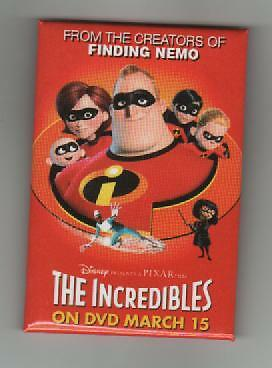 """Disney """"The Incredibles"""" Promotional Button"""