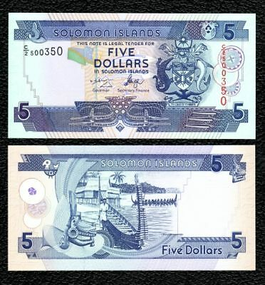 Solomon Islands P-26  5 Dollars  Crisp UNC