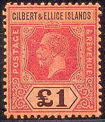 GILBERT & ELLICE #26 Mint Never Hinged, Scott $1,400.00