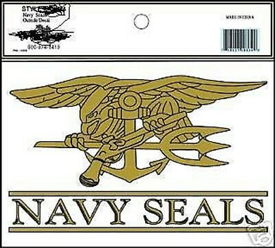 Us Navy  Usn Seals  Seal  Trident Car Window Decal