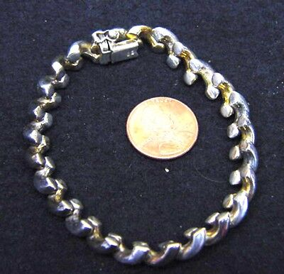 BUTW vintage sterling silver marcos style bracelet 1005 be