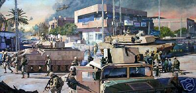 """Turning the Corner"" James Dietz Artist Proof - 1st Cavalry on Baghdad St 2005"