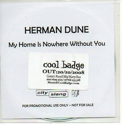 (707D) Herman Dune, My Home is Nowhere Without Y- DJ CD
