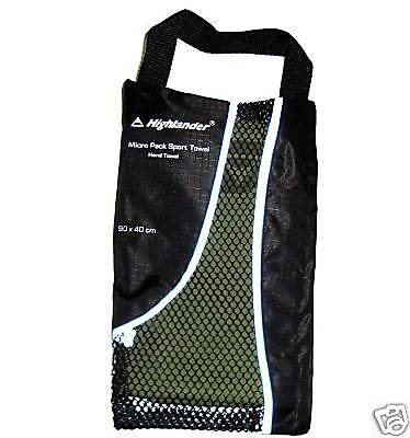 OLIVE MICRO FIBRE LUXURY HAND TOWEL travel sports gym camping backpacking kit