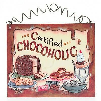 CHOCOLATE SIGN Chocoholic Shabby Cottage Chic Signs NEW