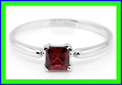 Sterling Silver Birth Month Cubic Zirconia January Child Ring Sz 4