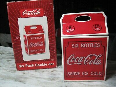 Coca Cola 6 Pack Cookie Jar-Styled After 1930 Carrier