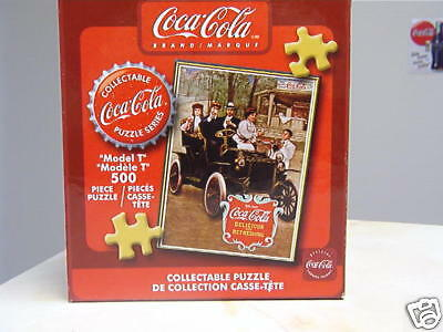 Coca Cola Model T 500 Piece Puzzle - Nib - Sealed