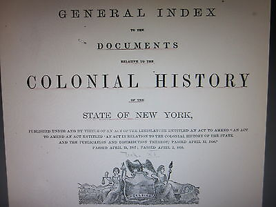 New York Colonial History Volumes 8-15 includes Index May Help with DAR SAR