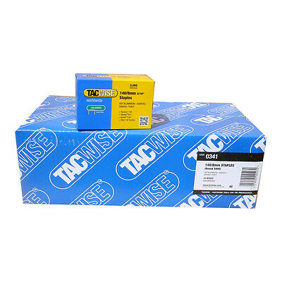 CARTON of 8 mm TACWISE 140/8  STAPLES (5000) x 20 boxes