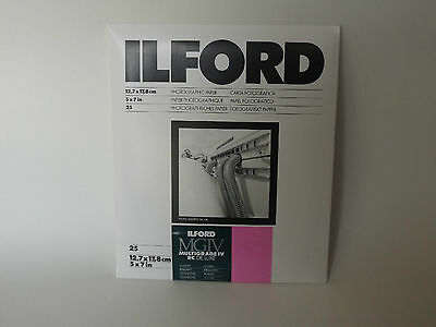 Ilford Mgiv Rc Deluxe 5X7 Glossy 25 Darkroom Paper