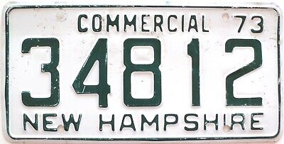 1973 New Hampshire Commercial license plate No. 34812